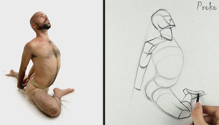 proko figure gesture drawing
