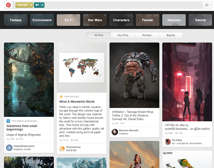 concept art pinterest search