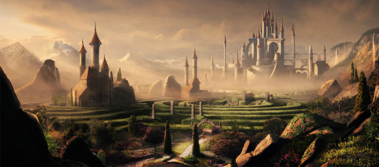 Matte environment painting