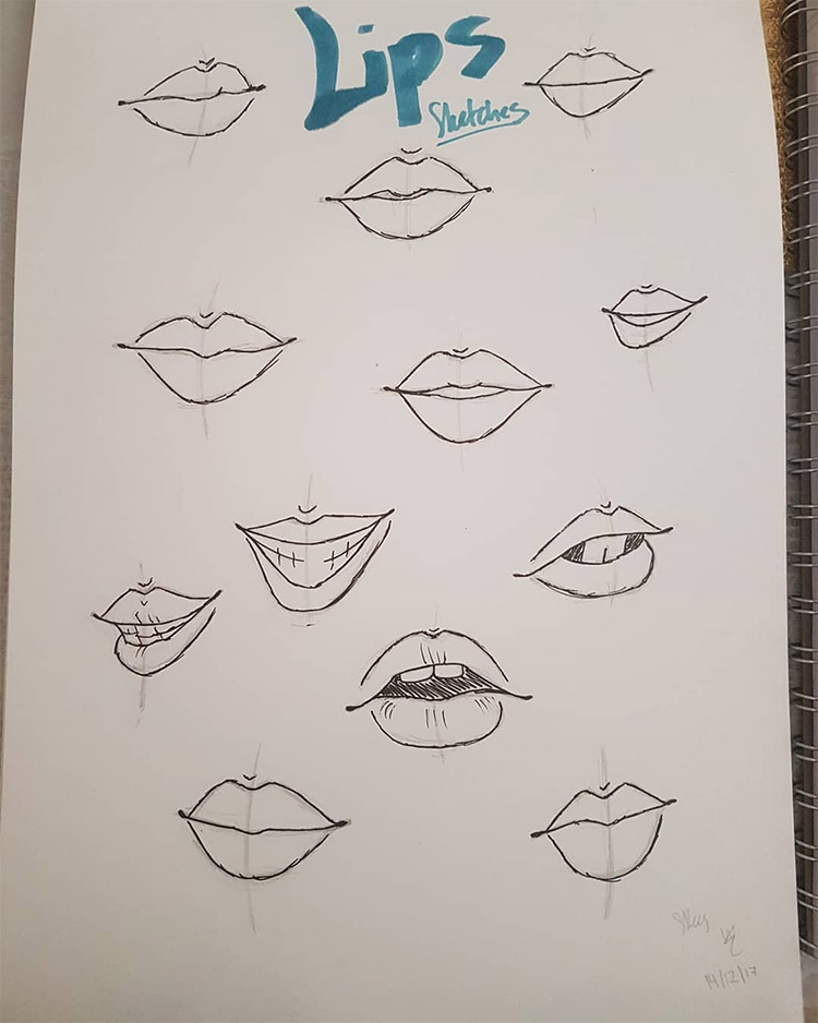 Sketchbook lips