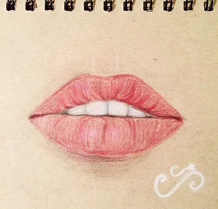 Girls lip drawing