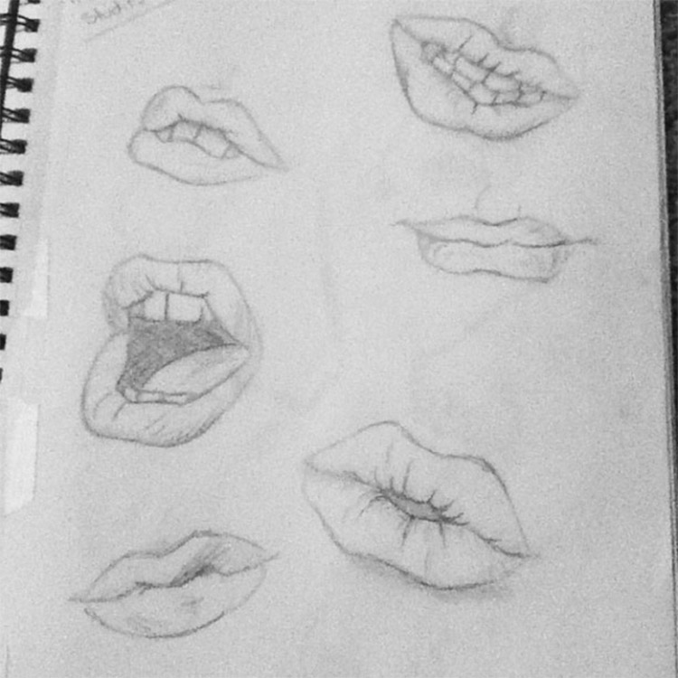 Sketchbook lips practice