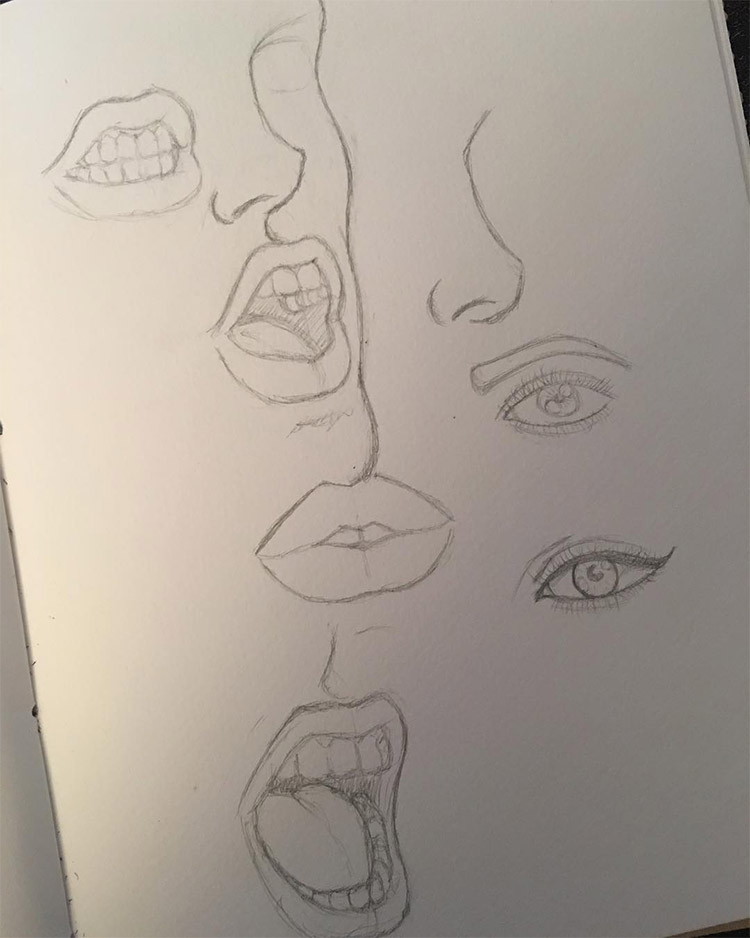 Light lines lips
