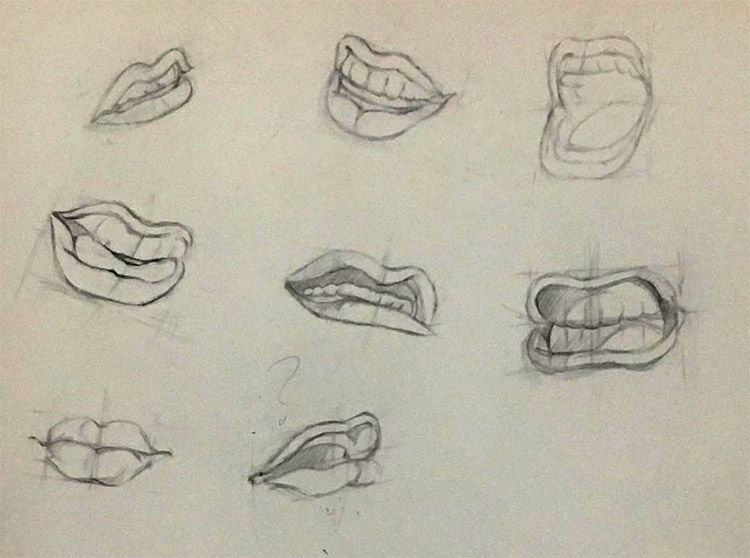 Quick lips in different poses