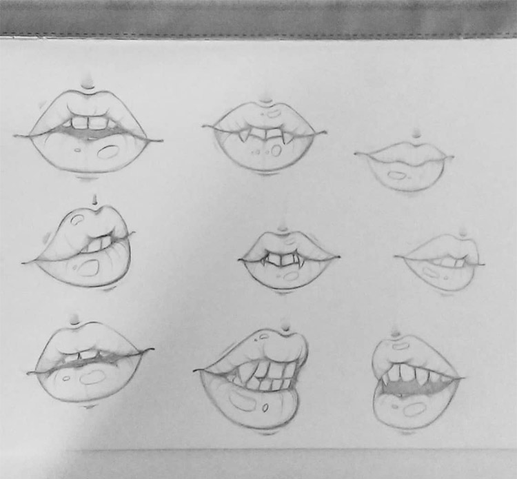 Drawings of lips