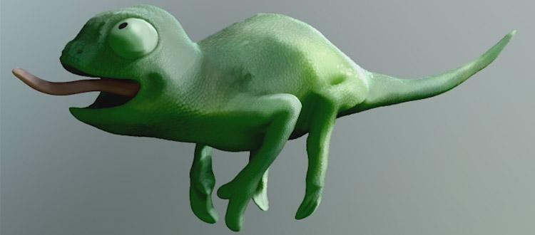ZBrush chameleon model