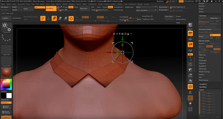 simple human sculpt in zbrush