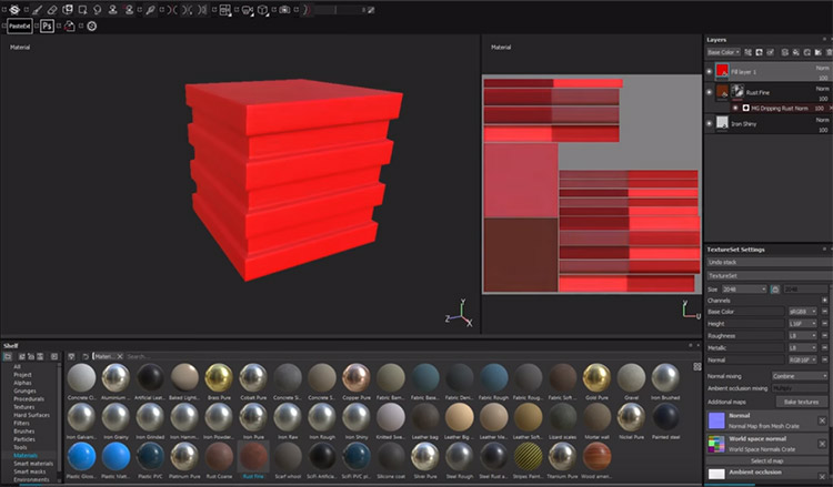 Layers and Masks Substance Painter