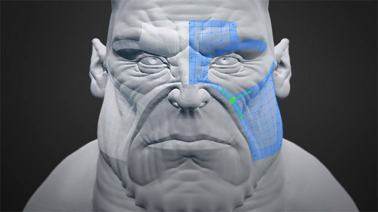 Retopoflow blender plugin