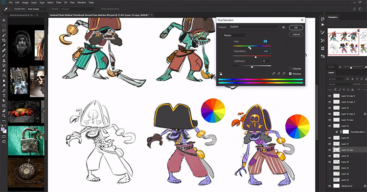 21Draw Pirate sketches practice