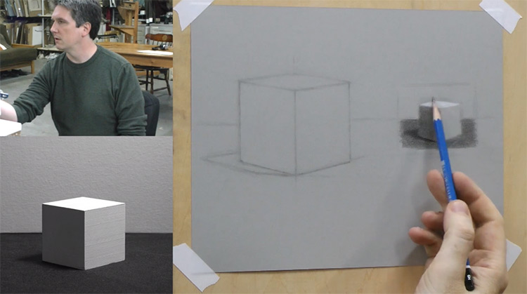 Vitruvian Studio David Jamieson cube drawing