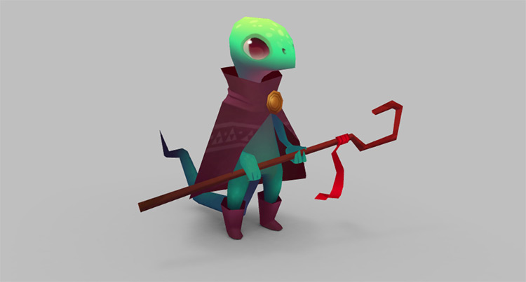 Free reptile mage model design