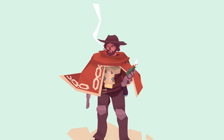 Marlborough man style cowboy model
