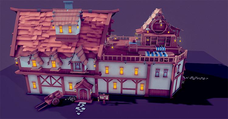 Troll character tavern 3d model