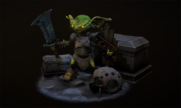 Goblin warrior character design