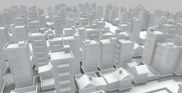 Cityscape modeled in blender