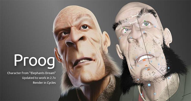 Proog character 3d model design
