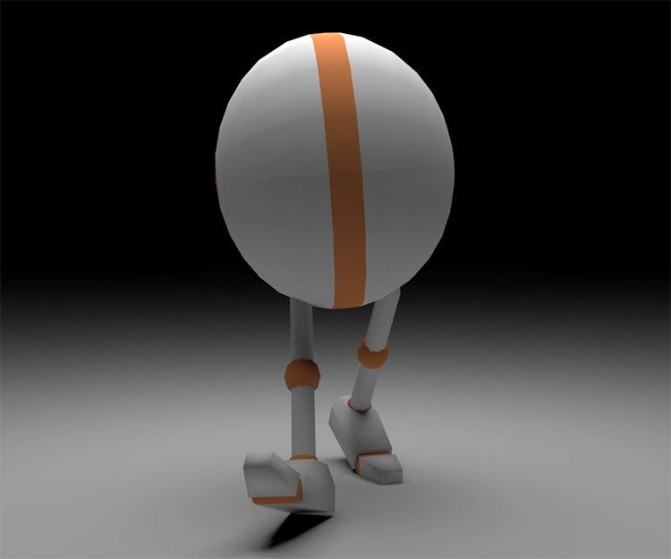 3d modeled and rigged ball