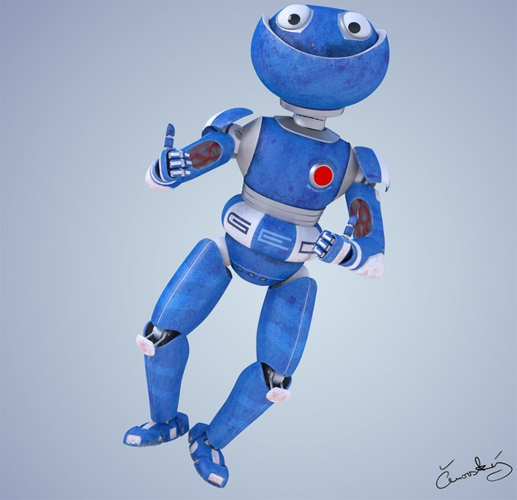 Funny robot character model