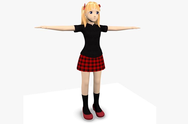 sara teenager girl character model