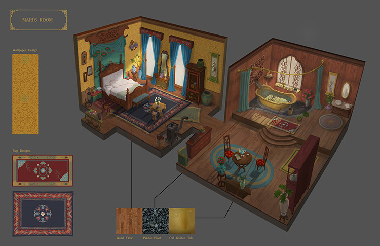 LeonLee props for background painting concept art
