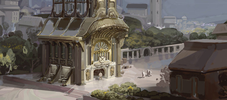 Dishonored concept painting - digital environment artwork
