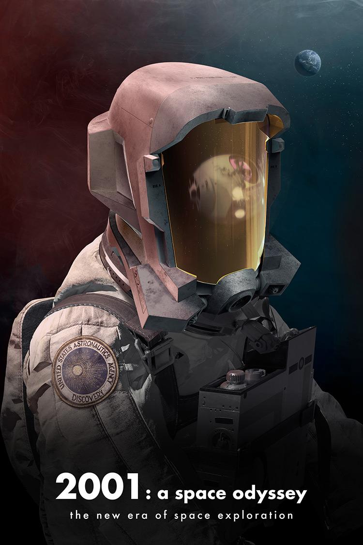 2001 Space Odyssey Digital Painting/Poster Artwork