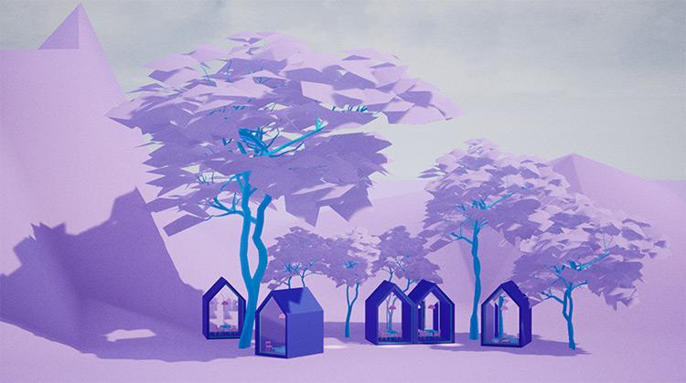 Pink City - Environment Artwork, Digital Industrial/Entertainment Design
