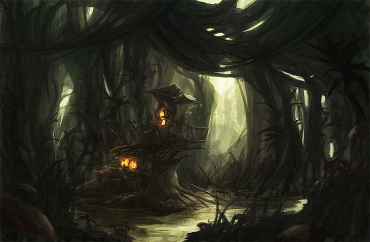 house in swamp environment