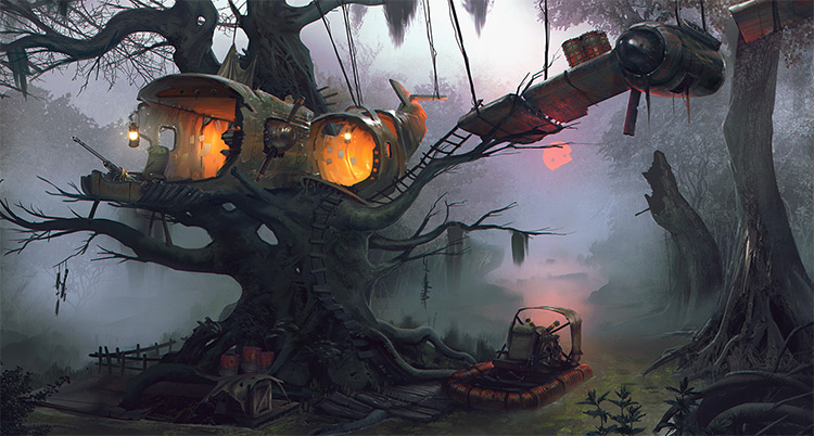 swamp house habitat concept art