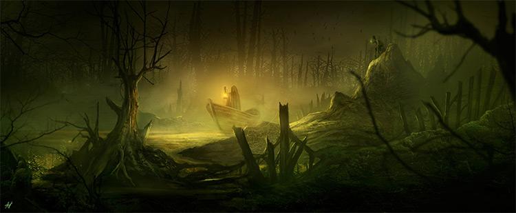 stalker in the swamp boat