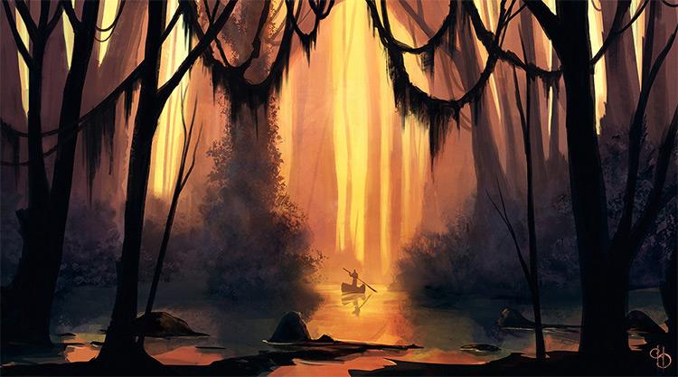 jungle area environment swamp