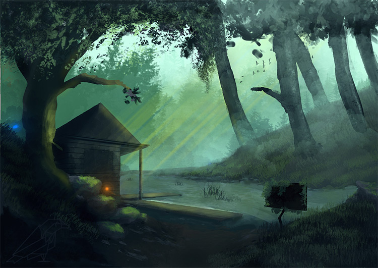 mystical swamp environment art