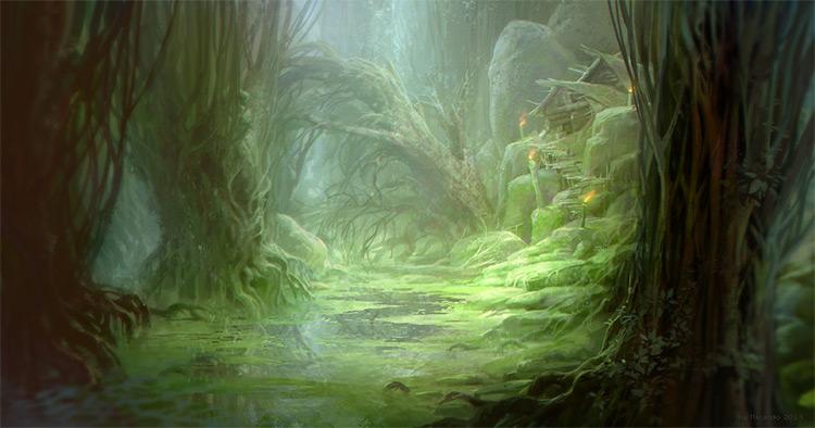 rareware swamp environment