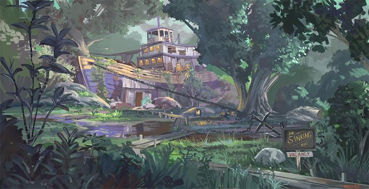 inn swamp exterior environment