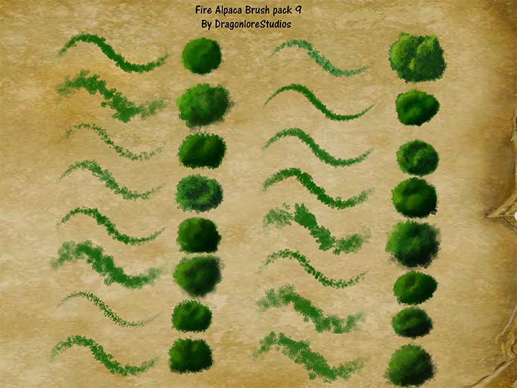 FireAlpaca grass