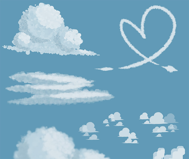 cloud brushes for firealpaca