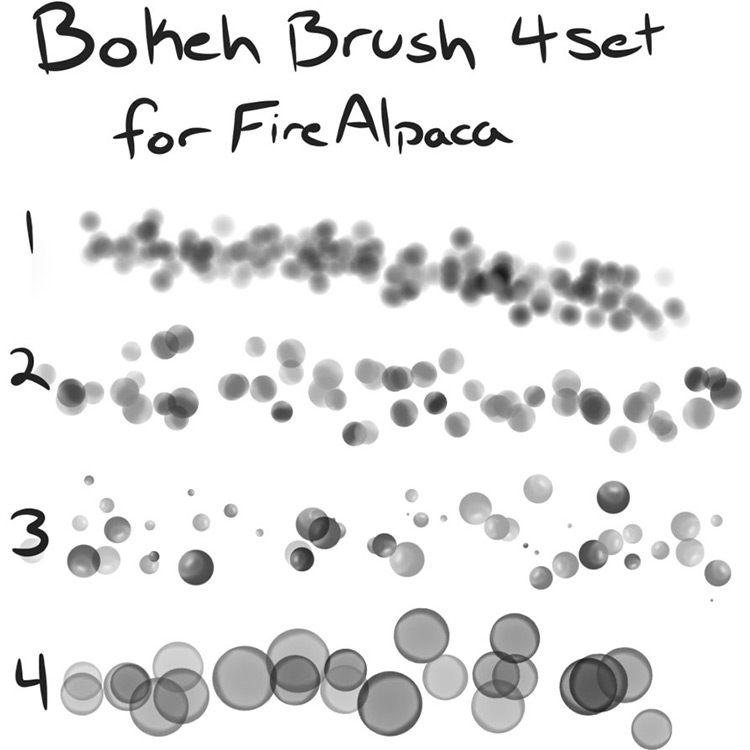 Bokeh brushes pack