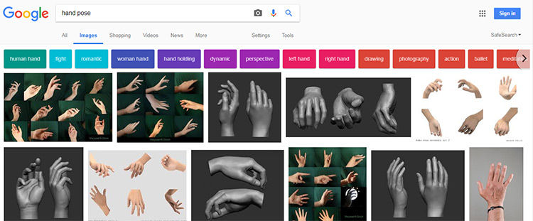 Google Hands photoset
