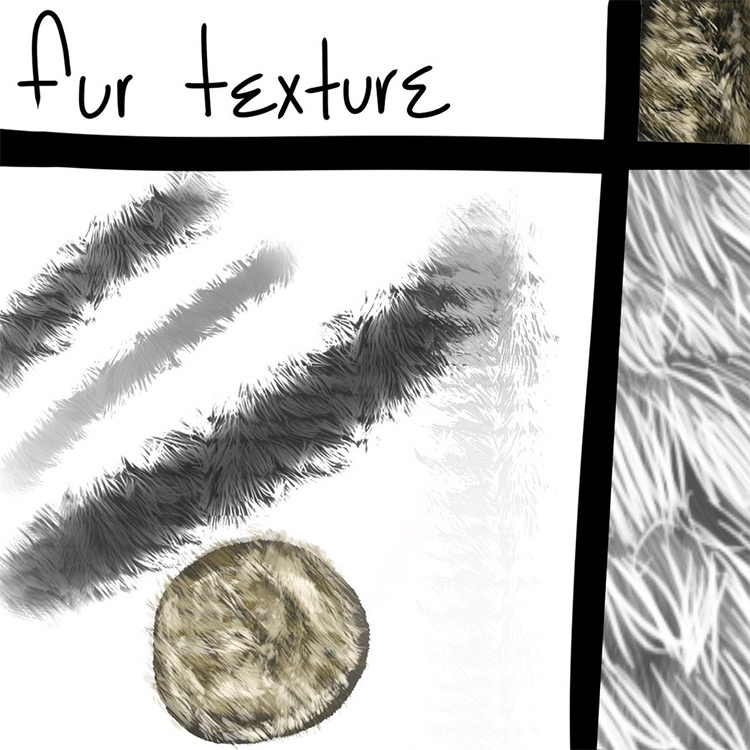 Fur texture for paint tool sai
