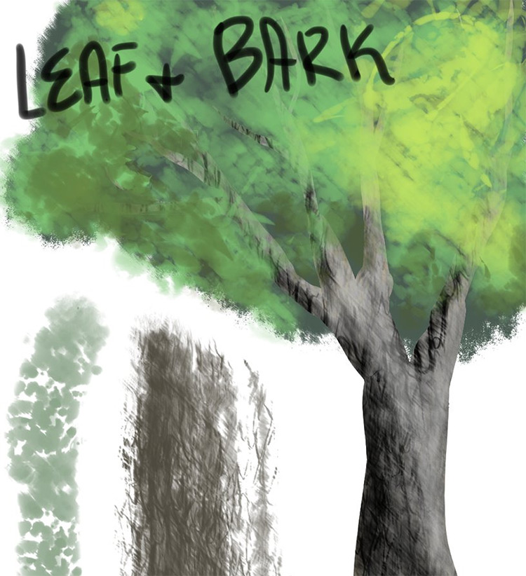 Leaf and Bark Brushes