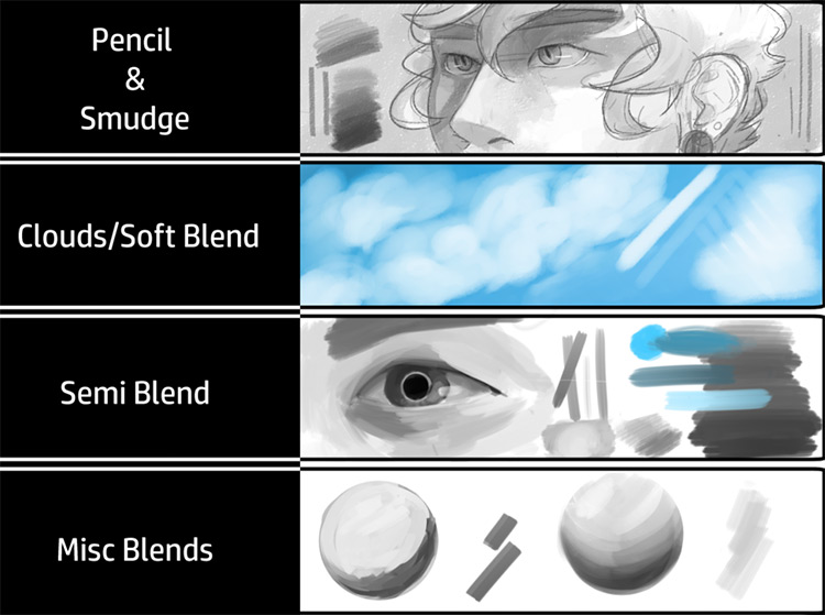 SAI brushes gumroad pack freebie