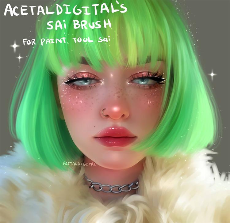 AcetalDigital Paint Tool SAI pack