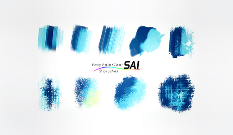 SAI pack of 9 brushes