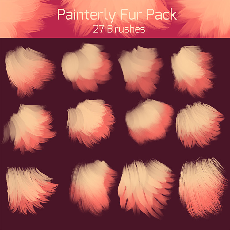 Shrinehearts paint fur brushes