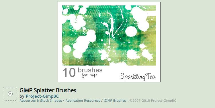 Splatter brushes pack
