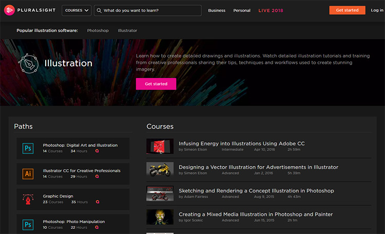Pluralsight illustration training path