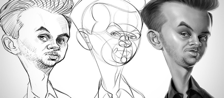 Proko Caricature sketches