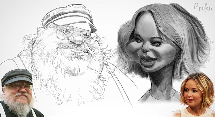Proko Caricature Course Demo