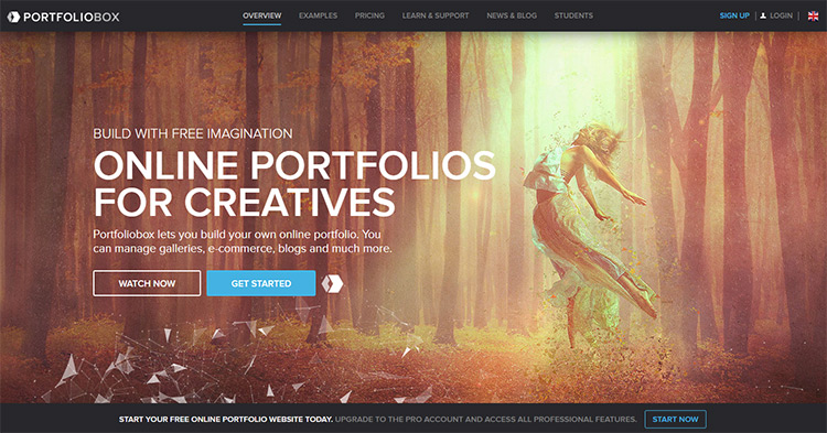 Main Portfoliobox Homepage